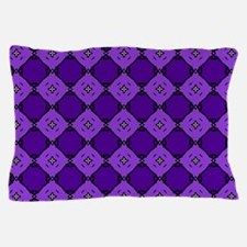 Purple Diamond Pattern Pillow Case