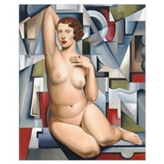 Seated Cubist Nude Poster