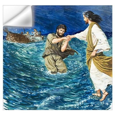 The Miracles of Jesus: Walking on Water Wall Decal