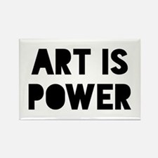 Art is Power Rectangle Magnet