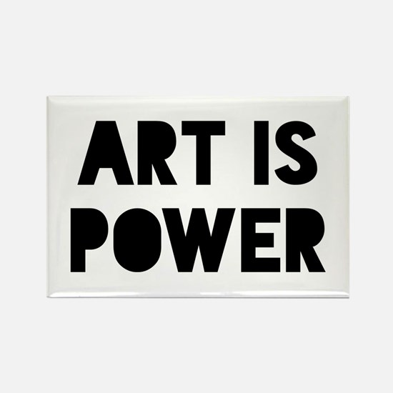 Art is Power Rectangle Magnet