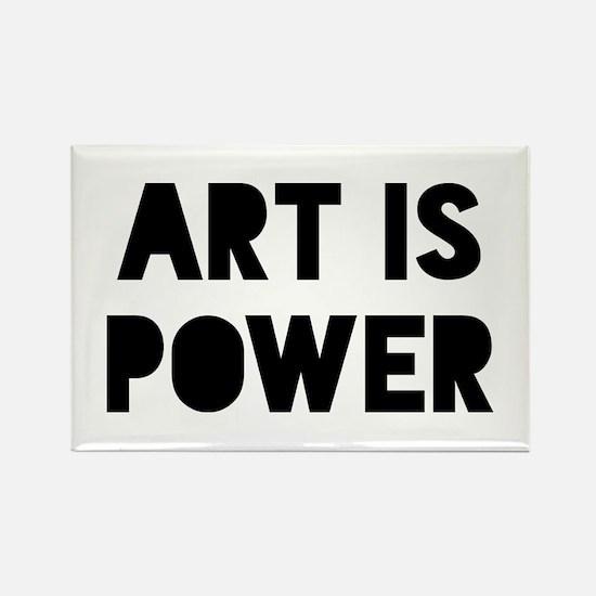 Art Power Rectangle Magnet