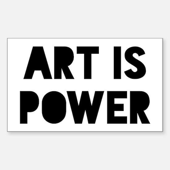 Art is Power Sticker (Rectangle)