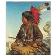Indian Boy at Fort Snelling, 1862 Poster