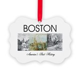 Boston tea party Picture Frame Ornaments