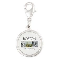 ABH Boston Silver Round Charm