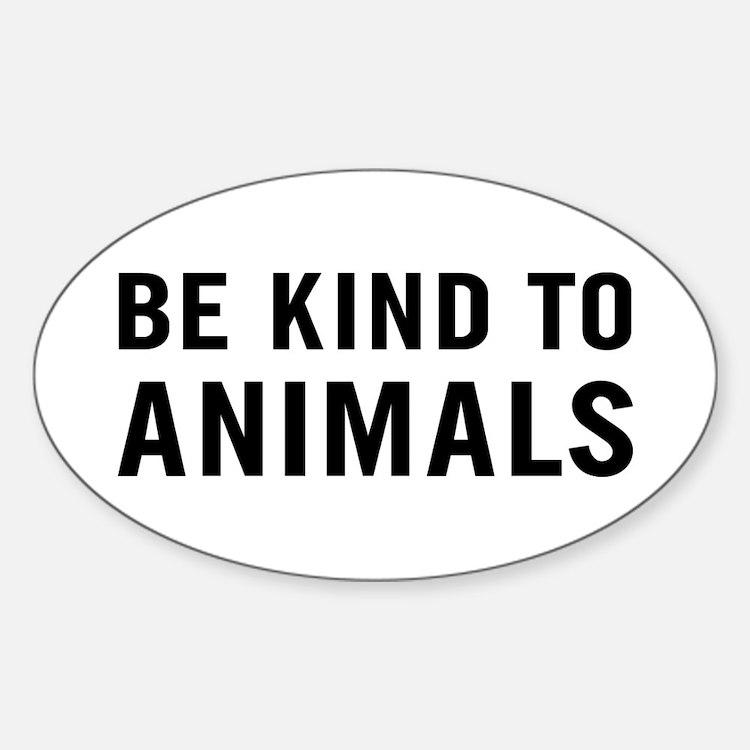 Be Kind Animals Sticker (Oval)