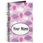 Personalized Girls Smiling Balloon Journal