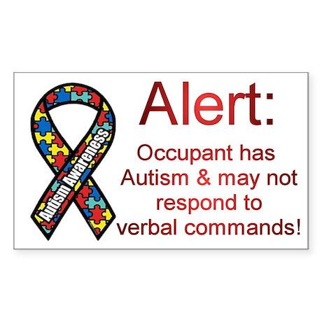 """Autism Alert"" Rectangle Sticker"