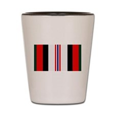 Afghanistan campaign ribbon Shot Glass