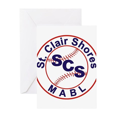 SCS MABL Baseball League Greeting Card
