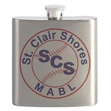 SCS MABL Baseball League Flask