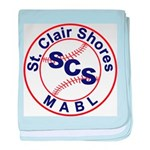 SCS MABL Baseball League baby blanket