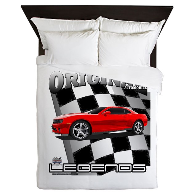 Musclecar top 100 d13006 queen duvet by originalautomobile for Kitchen colors with white cabinets with muscle car stickers