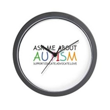 Ask Me About Autism Wall Clock