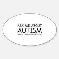 Ask Me About Autism Sticker (Oval)