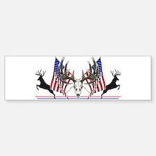 Patriotic Whitetail buck Bumper Bumper Bumper Sticker