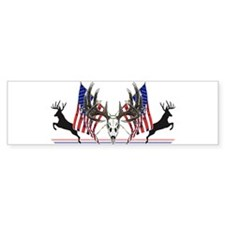 Patriotic Whitetail buck Bumper Bumper Sticker