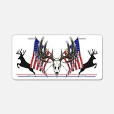 Patriotic Whitetail buck Aluminum License Plate