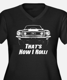 How I Roll - Mustang Boss Plus Size T-Shirt