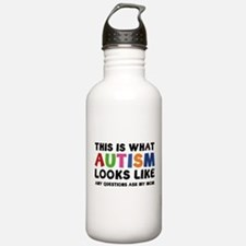 This is what Autism looks like Water Bottle