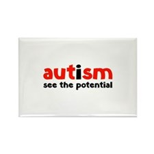 Autism See The Potential Rectangle Magnet