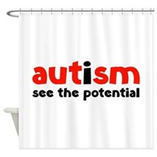Autism See The Potential Shower Curtain