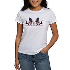 Patriotic Whitetail buck T-Shirt