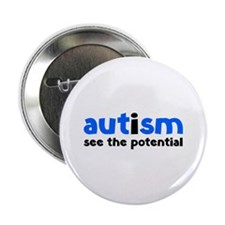 "Autism See The Potential 2.25"" Button (10 pack)"