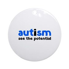 Autism See The Potential Ornament (Round)
