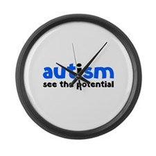 Autism See The Potential Large Wall Clock