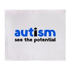 Autism See The Potential Stadium Blanket
