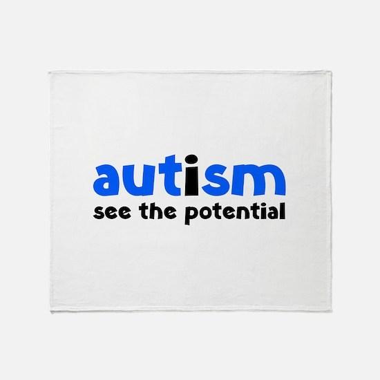 Autism See The Potential Stadium Blanket