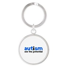 Autism See The Potential Round Keychain