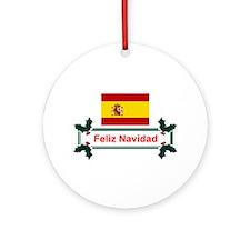 Spain Feliz Navidad Ornament (Round)