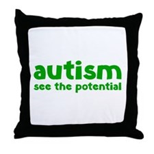 Autism See The Potential Throw Pillow