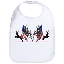 Patriotic Whitetail buck Bib