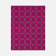 Hot Pink Geometric Floral Pattern Twin Duvet