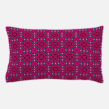 Hot Pink Geometric Floral Pattern Pillow Case