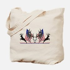 Patriotic Whitetail buck Tote Bag