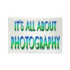 About Photography Rectangle Magnet