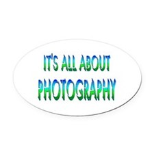 About Photography Oval Car Magnet