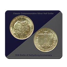 Battle of Gettysburg Coin Mousepad