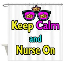 Crown Sunglasses Keep Calm And Nurse On Shower Cur