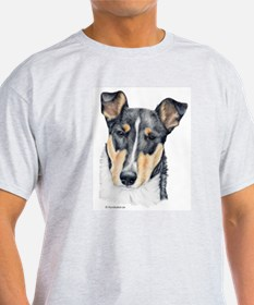 Collie, Short-haired Ash Grey T-Shirt