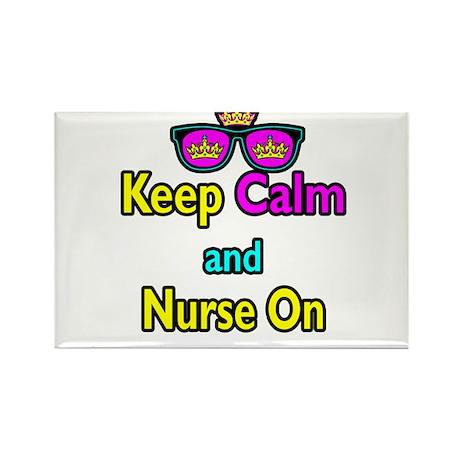 Crown Sunglasses Keep Calm And Nurse On Rectangle