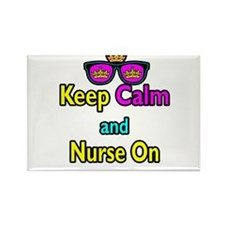 Crown Sunglasses Keep Calm And Nurse On Rectangle