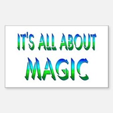 About Magic Sticker (Rectangle)