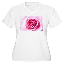 Pink Rose Plus Size T-Shirt
