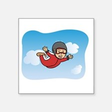 Flying Free and Happy through Skydiving Sticker